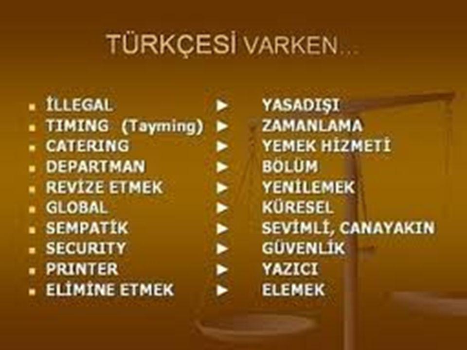 Bugün Türkçemizle ilgili başlıca güncel sorunları şöyle sıralayabiliriz: özensizlik ve yanlış kullanım, yabancı sözcük tutkusu, yabancı dil öğretimi i