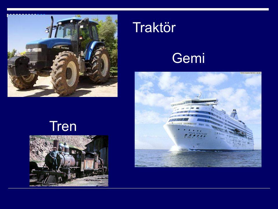 Traktör Gemi Tren