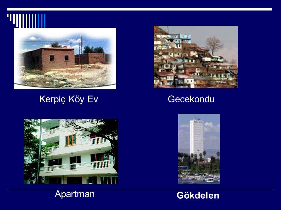 Gökdelen Kerpiç Köy Ev Apartman Gecekondu
