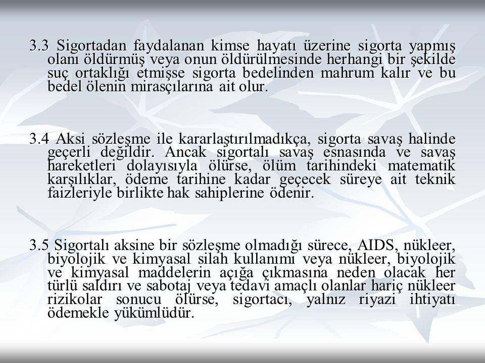 A.4 SİGORTA BEDELİNİN ARTTIRILMASI Sigorta süresi içinde, sigorta ettirenin talebi ve sigortacının da kabulü halinde sigorta bedeli arttırılabilir.