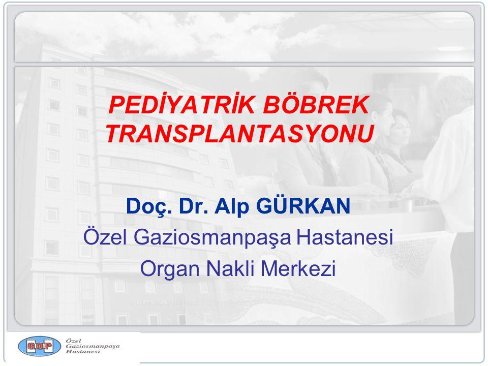 PEDİYATRİK BÖBREK TRANSPLANTASYONU Doç.Dr.