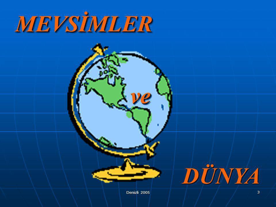 Denizli 2005 2 İÇİNDEKİLER Mevsim Nedir? Mevsimler ve Özellikleri Mevsimlerin Oluşumu Türkiye'de Dört Mevsim