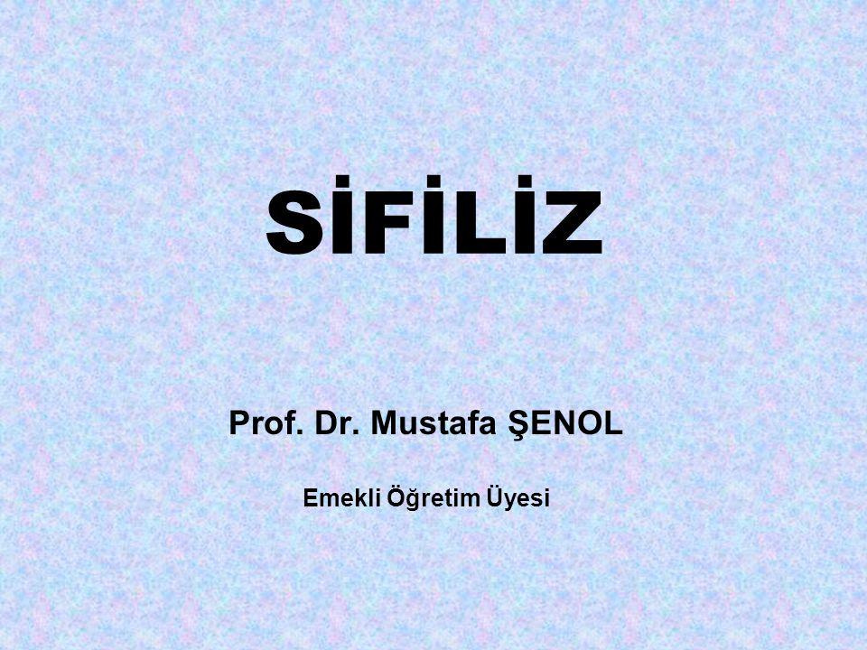 SİFİLİZ Prof. Dr. Mustafa ŞENOL Emekli Öğretim Üyesi