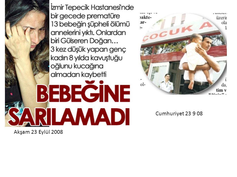 Akşam 23 Eylül 2008 Cumhuriyet 23 9 08