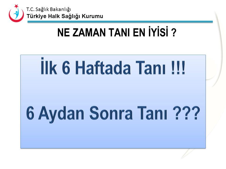 T.C. Sağlık Bakanlığı Türkiye Halk Sağlığı Kurumu NE ZAMAN TANI EN İYİSİ ?