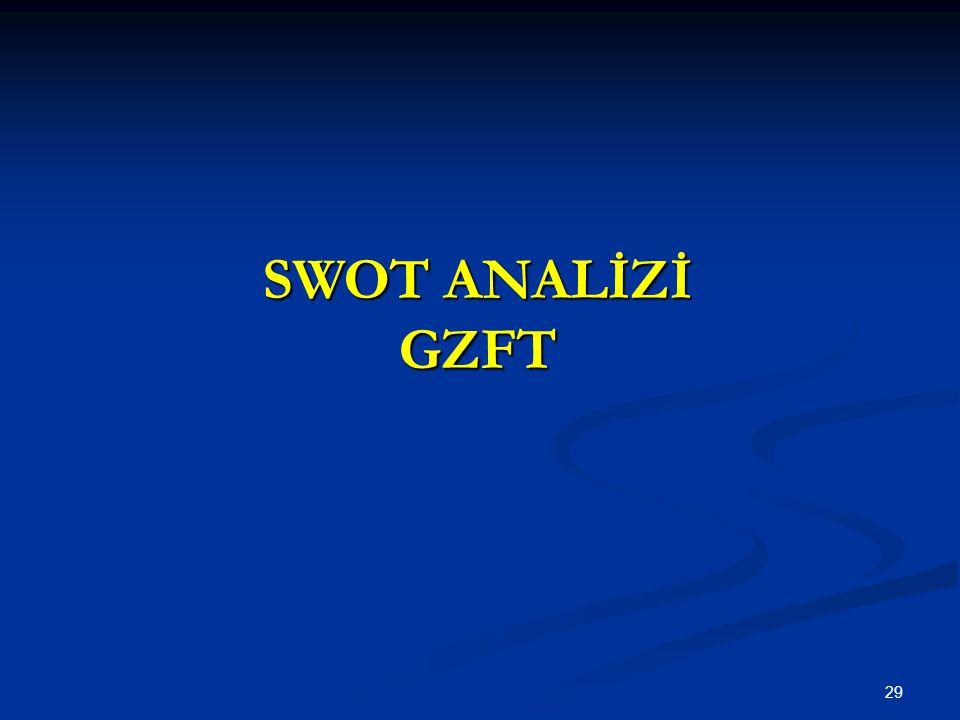 29 SWOT ANALİZİ GZFT