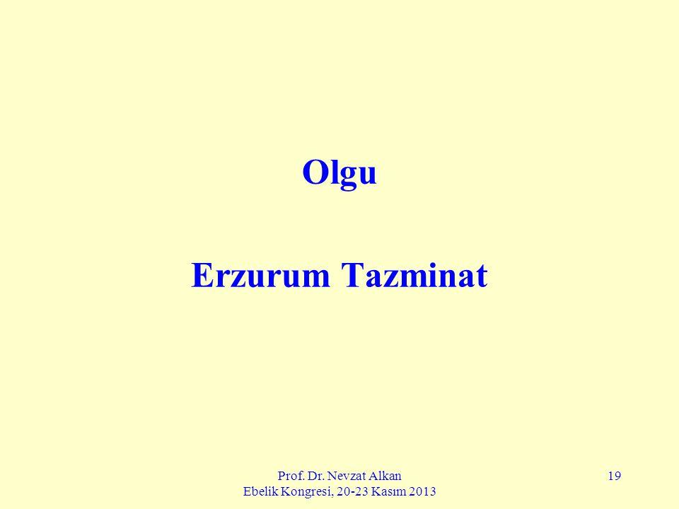 Prof. Dr. Nevzat Alkan Ebelik Kongresi, 20-23 Kasım 2013 19 Olgu Erzurum Tazminat