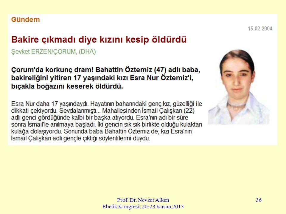 Prof. Dr. Nevzat Alkan Ebelik Kongresi, 20-23 Kasım 2013 36