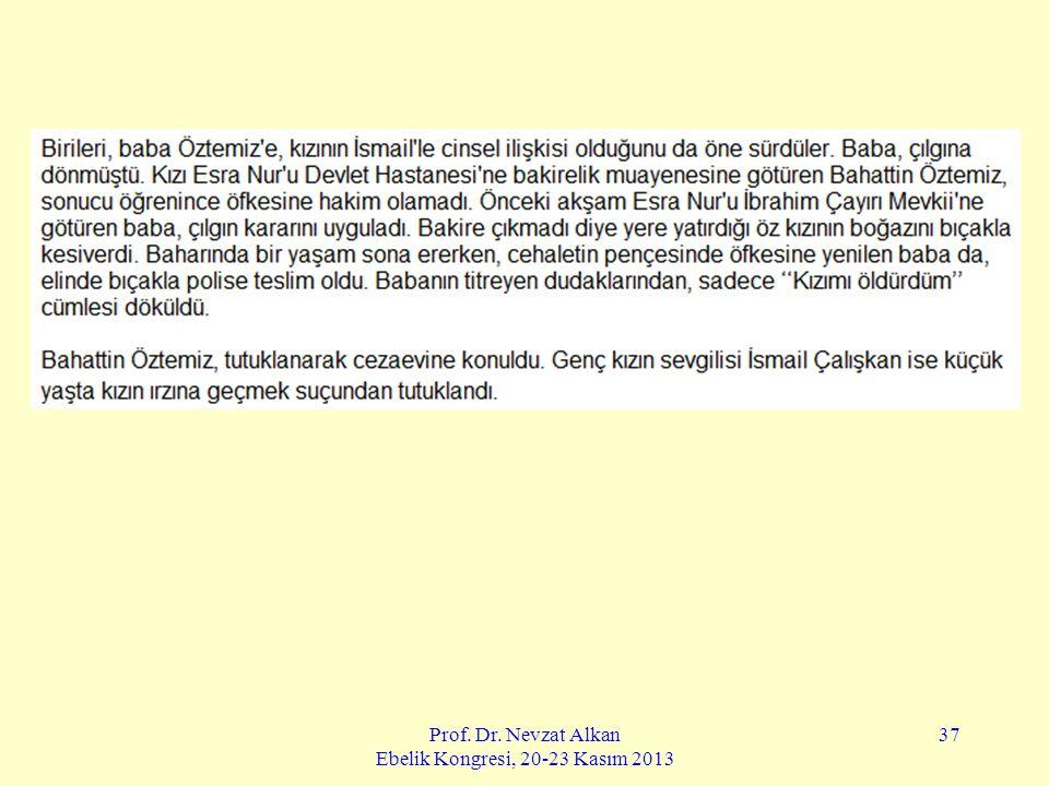 Prof. Dr. Nevzat Alkan Ebelik Kongresi, 20-23 Kasım 2013 37