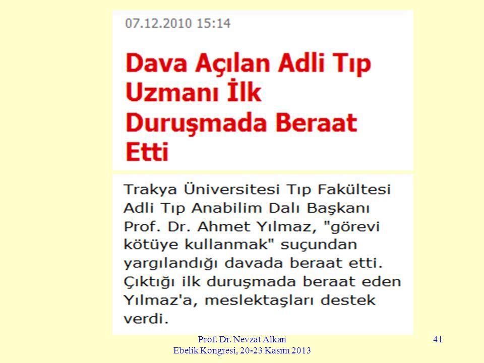Prof. Dr. Nevzat Alkan Ebelik Kongresi, 20-23 Kasım 2013 41