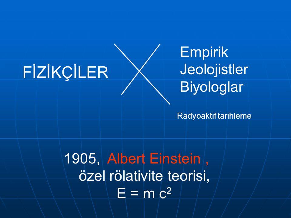 DÖNÜM NOKTASI 1896 Henry Becquerel, bir yıl önce, Wilhelm Roentgen'in kesfettigi X ışınları ile ilgili bir deneyde kullanmak için sakladığı uranyum fi