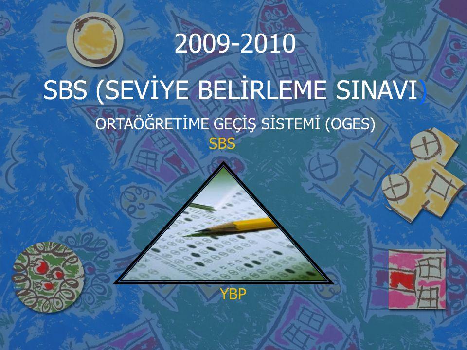 SBS YBP 2009-2010 SBS (SEVİYE BELİRLEME SINAVI) ORTAÖĞRETİME GEÇİŞ SİSTEMİ (OGES)