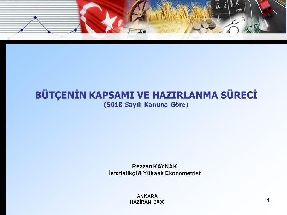 2 A- Türkiye'deki Bütçe Sistemi (5018 Md.