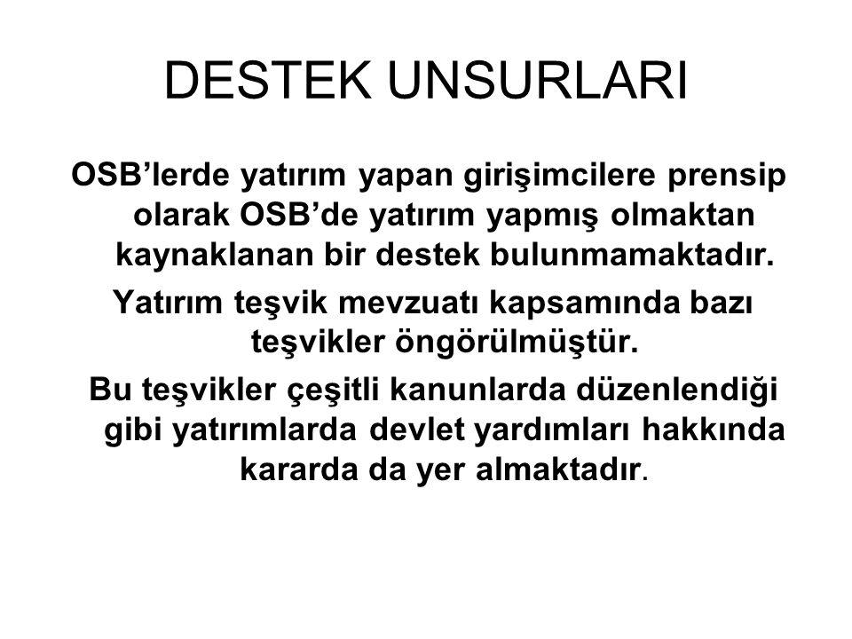 BAŞLICA DESTEK UNSURLARI Teşvik Kararnamesi 14.07.2009 tarihli ve 2009/15199 sayılı Bakanlar Kurulu Kararı ile Türkiye destek unsurları açısından dört bölgeye ayrılmıştır.