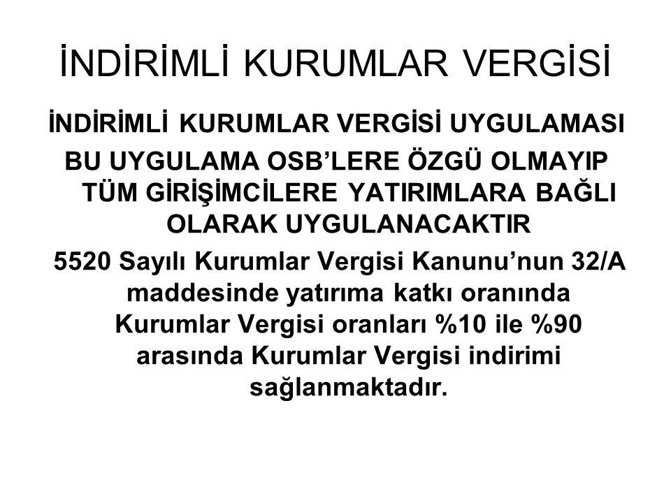 YATIRIM YERİ TAHSİSİ 4706 Sayılı Kanunun Ek 3.