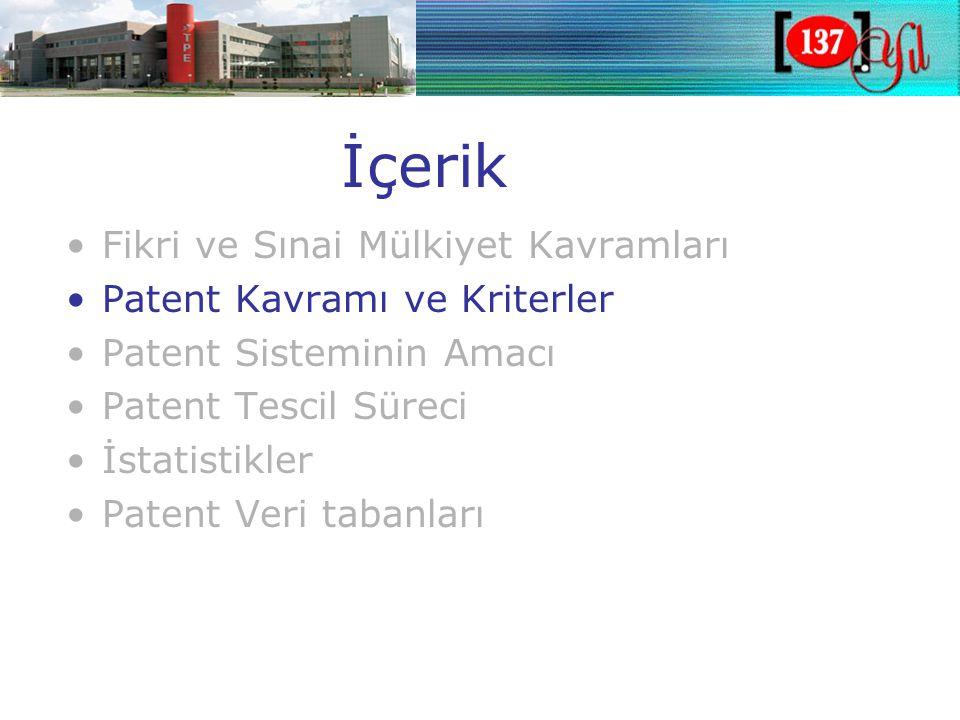 İncelemeli Patent •Araştırma raporu sonrası incelemeli sistem tercihi •Patentlenebilirlik kriterlerinin değerlendirmesi •Daha sağlam ve daha uzun bir koruma (20 yıl)