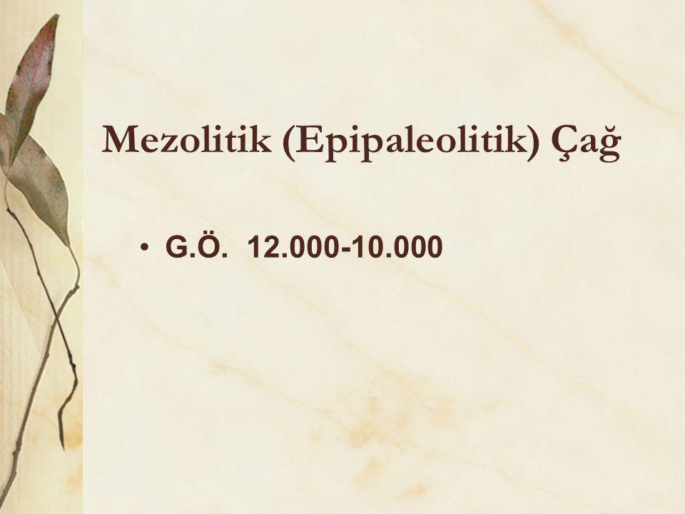 Mezolitik (Epipaleolitik) Çağ •G.Ö. 12.000-10.000