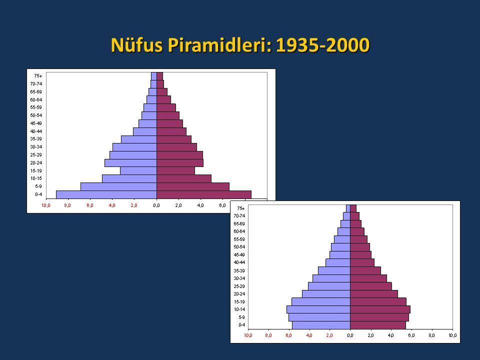Nüfus Piramidleri: 1935-2000