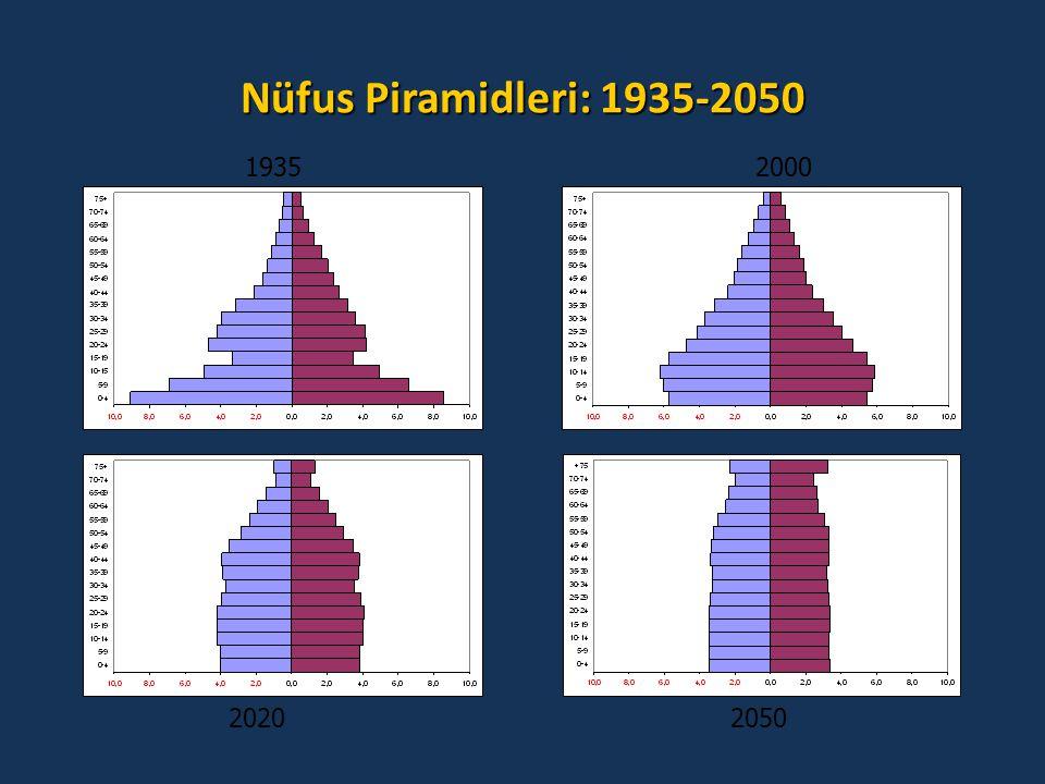 Nüfus Piramidleri: 1935-2050 19352000 20202050