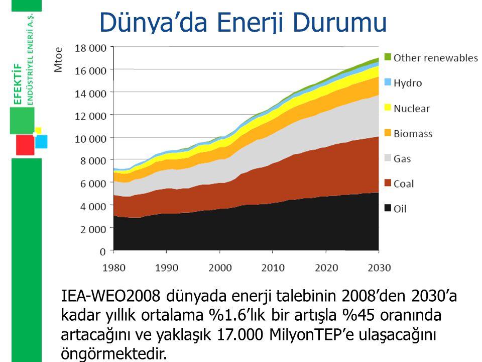 Dünya'da Enerji Durumu Bu talep artışının en önemli sebeplerinden biri de OECD üyesi olmayan gelişmekte olan ülkelerin %75'lere varan talep artışı olacaktır.