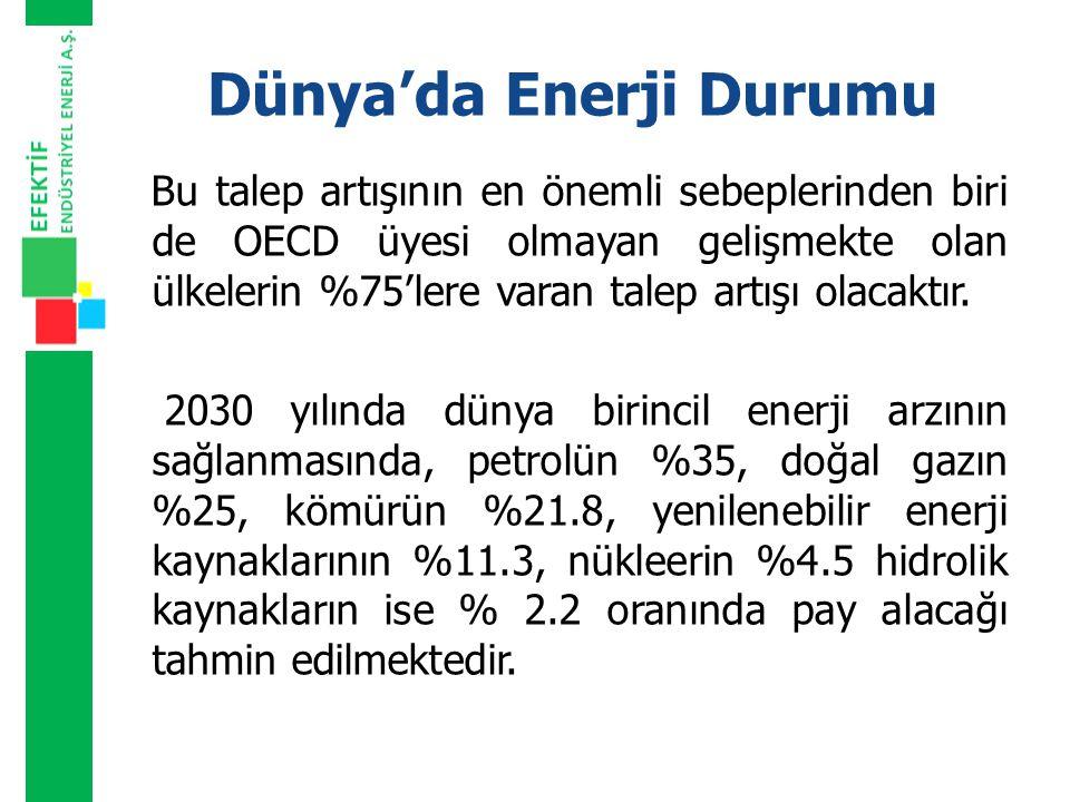 BİRİNCİL ENERJİ ÜRETİMİMİZİN KAYNAKLARA GÖRE DAĞILIMI Birincil enerji üretimimiz 2007 yılında 27.4 Milyon TEP olarak gerçekleşmiştir