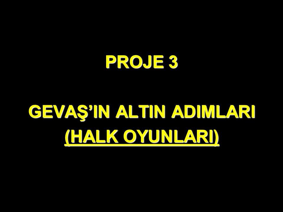 PROJE 3 GEVAŞ'IN ALTIN ADIMLARI (HALK OYUNLARI)