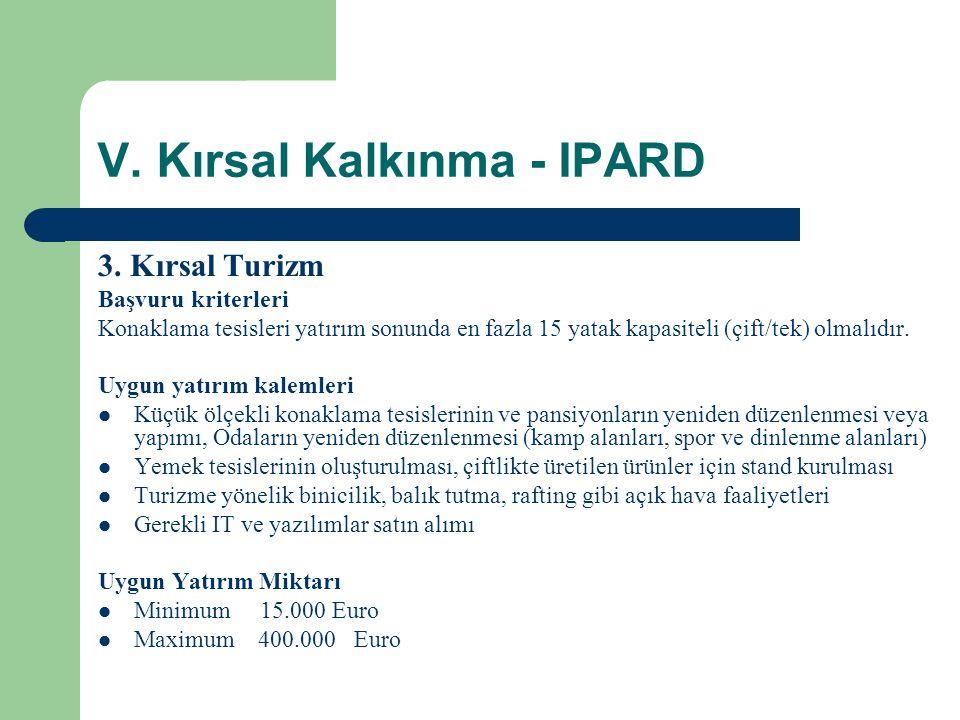 V.Kırsal Kalkınma - IPARD 3.