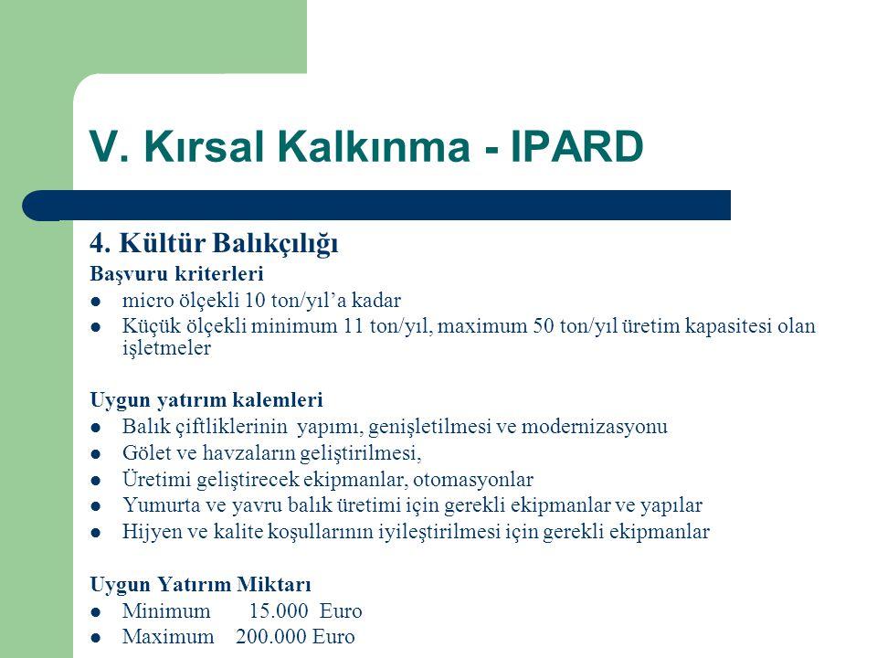 V.Kırsal Kalkınma - IPARD 4.