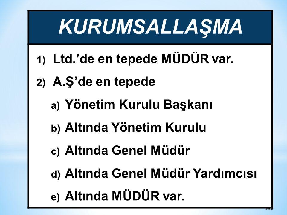 143143 KURUMSALLAŞMA 1) Ltd.'de en tepede MÜDÜR var.