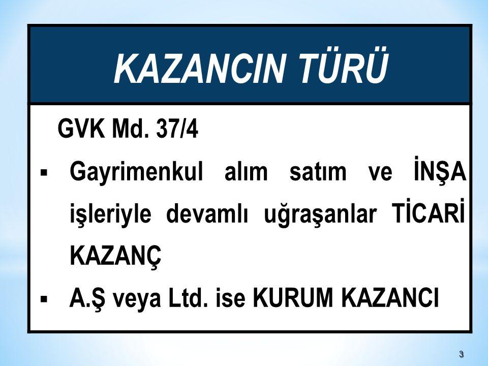 33 KAZANCIN TÜRÜ GVK Md.