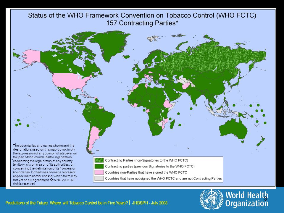 Predictions of the Future: Where will Tobacco Control be in Five Years.