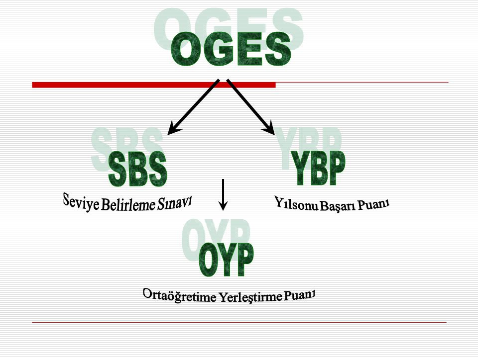 SBS NEDİR.Öğrencilerin, 6. 7. Ve 8. sınıfların sonunda girdiği sınavların genel adıdır.