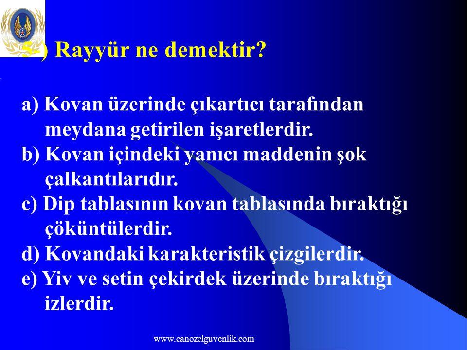 www.canozelguvenlik.com 5-) Rayyür ne demektir.
