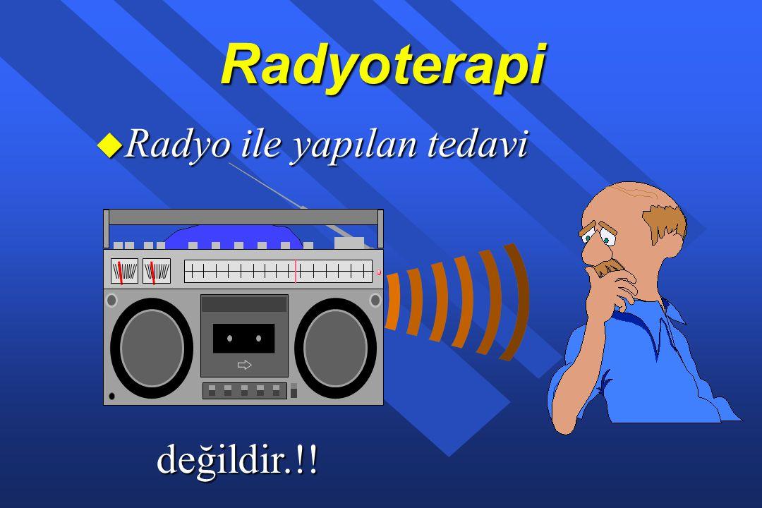 Radyoterapi u İyonizan radyasyonun kanserli doku üzerine yöneltilerek tedavi edilmesidir.