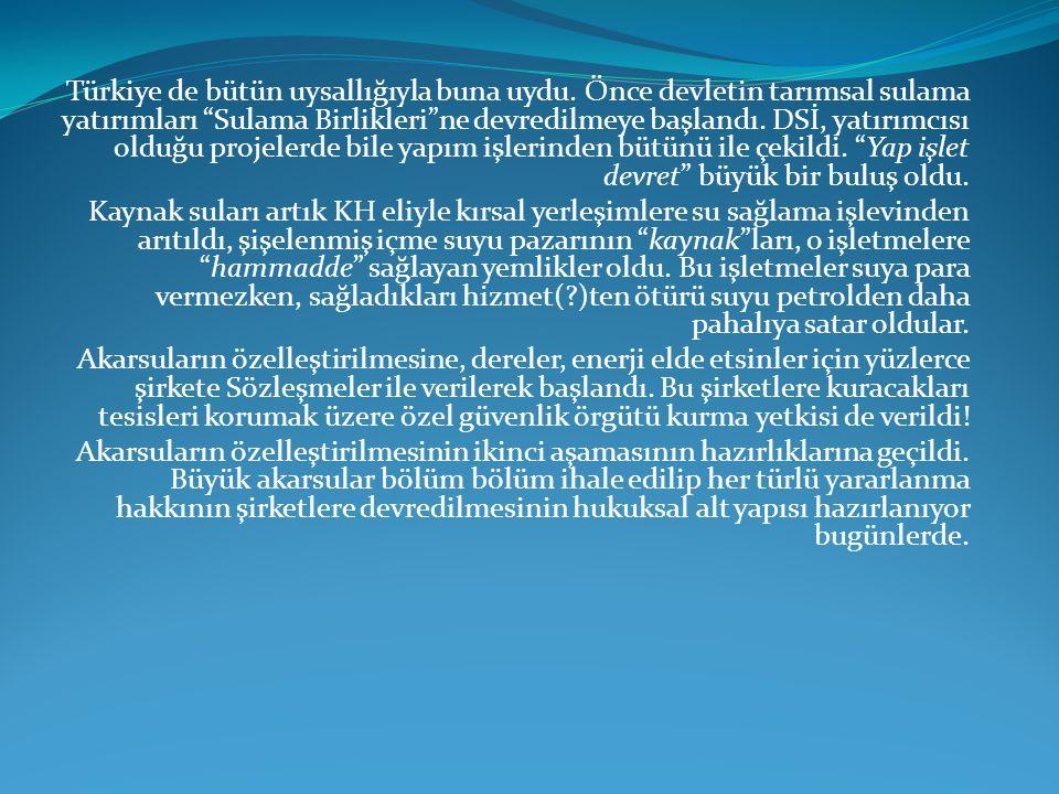 Türkiye de bütün uysallığıyla buna uydu.