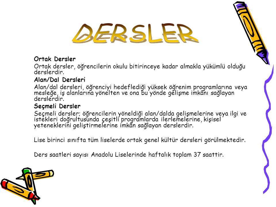 DERS KATEGORİLERİDERSLER 9.