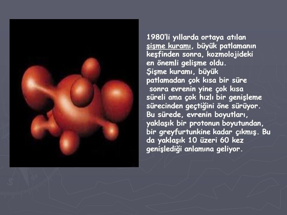 1980'li yıllarda ortaya atılan şişme kuramı, büyük patlamanın keşfinden sonra, kozmolojideki en önemli gelişme oldu. Şişme kuramı, büyük patlamadan ço