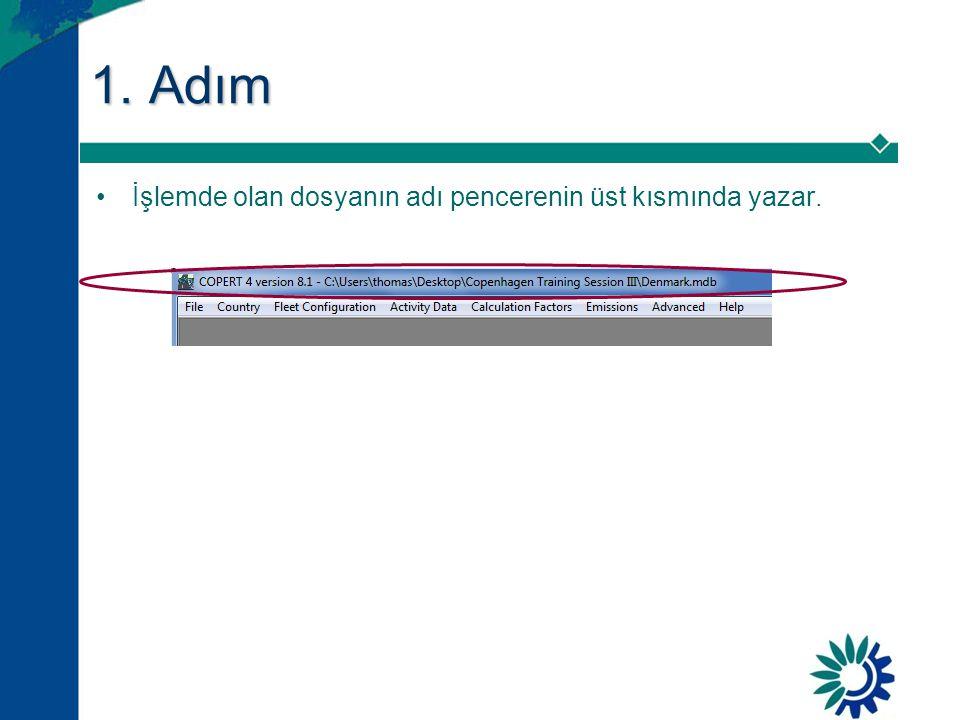 1. Adım •İşlemde olan dosyanın adı pencerenin üst kısmında yazar.