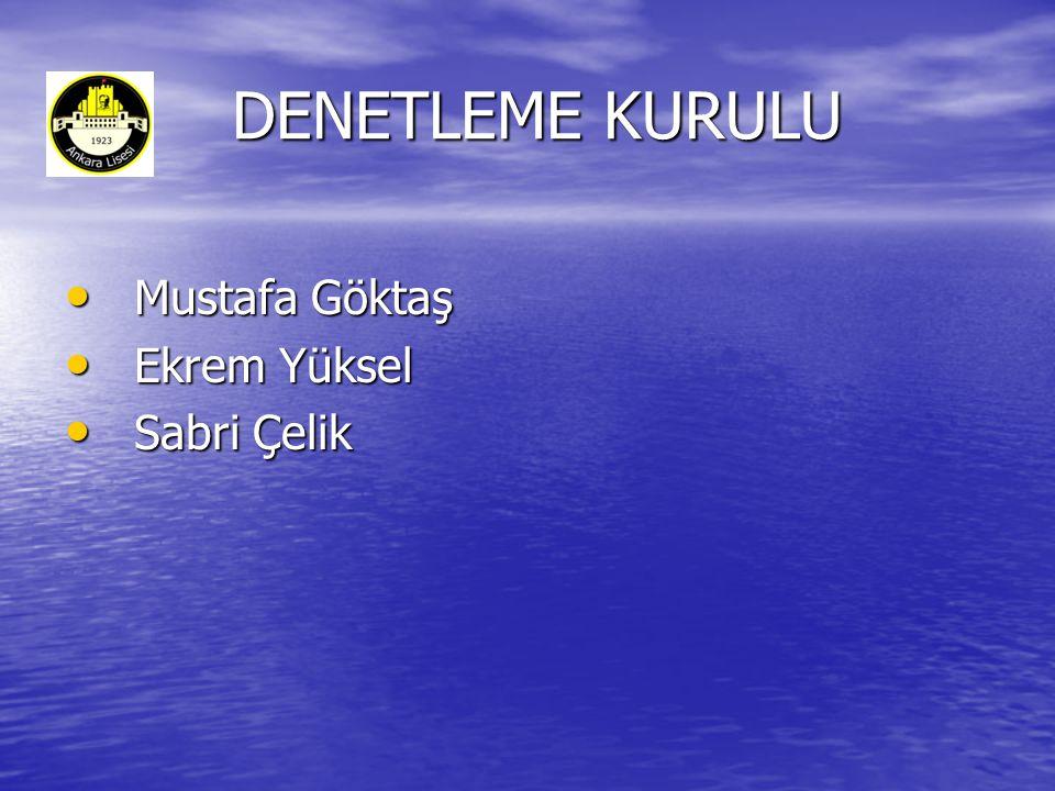 DENETLEME KURULU DENETLEME KURULU • Mustafa Göktaş • Ekrem Yüksel • Sabri Çelik
