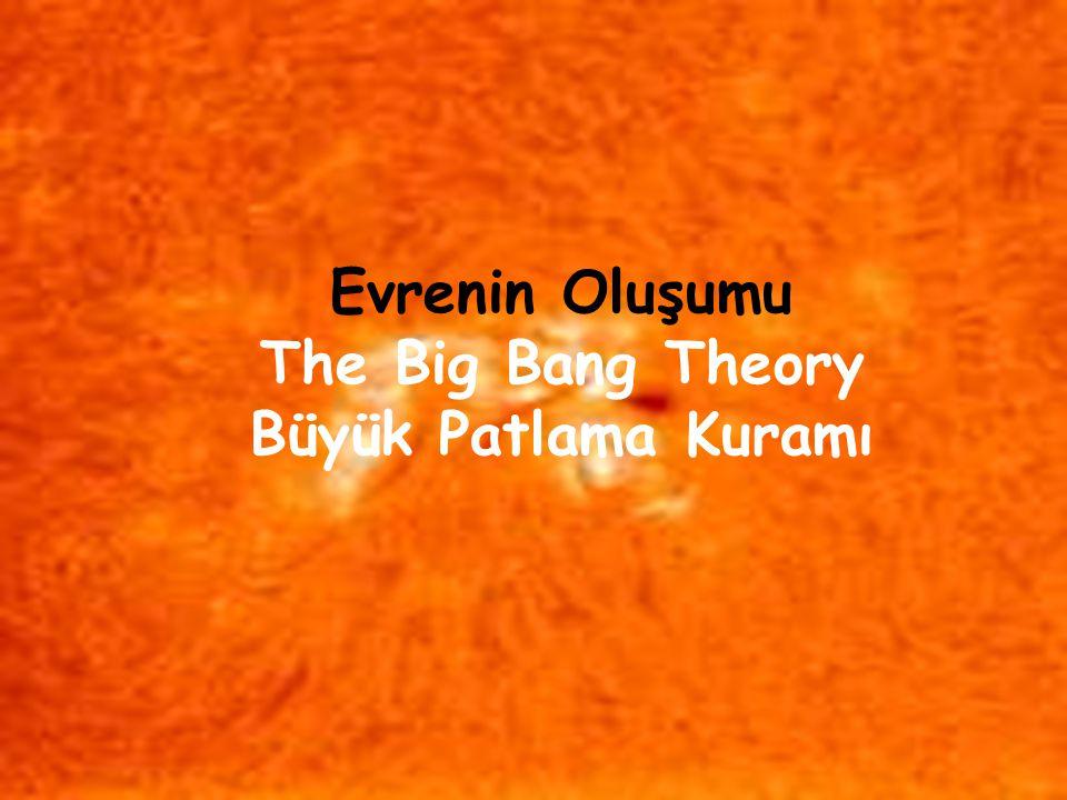 3  Evren atom altı maddelerden ve enerjiden oluşan bir yumak, nebula idi  12-16 milyar yıl önce bir patlama oldu  Gökadalar (galaksiler) oluştu,  Bunlardan biri Samanyolu gökadasıdır  4.6 milyar yıl önce Güneş Sistemi  4 milyar yıl önce, Küremiz dinginleşti