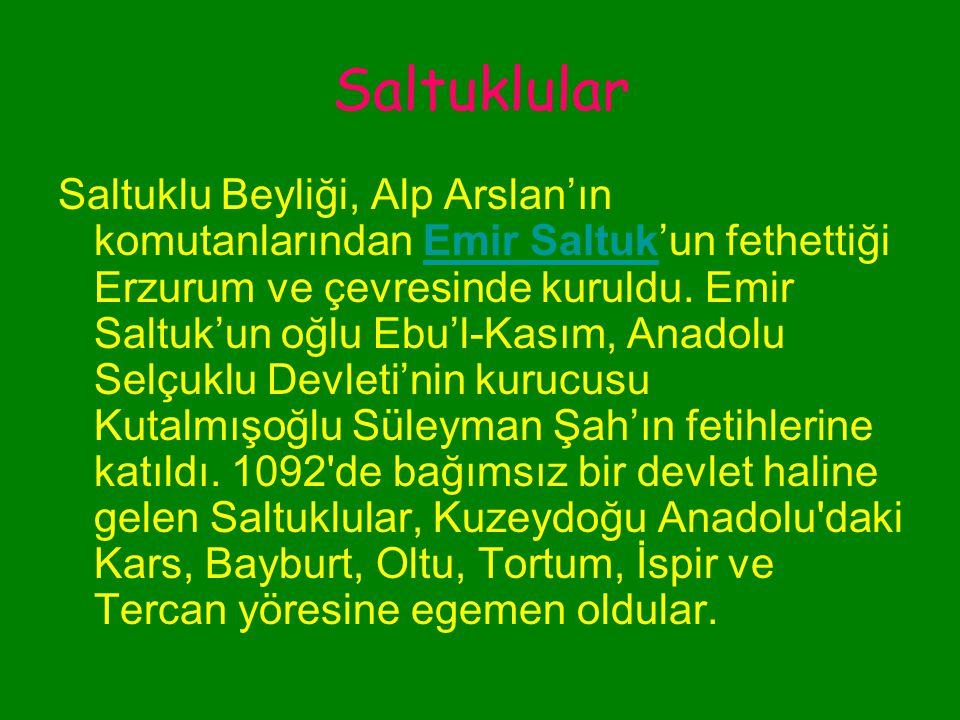 Danişmentliler DanişmendlilerDanişmendliler, Tokat, Malatya, Sivas ve Kayseri yi değerli yapılarla zenginleştirdiler.