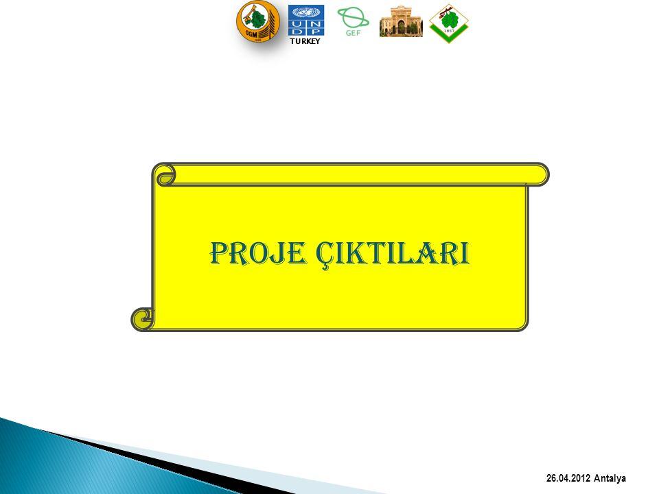 PROJE ÇIKTILARI 26.04.2012 Antalya TURKEY