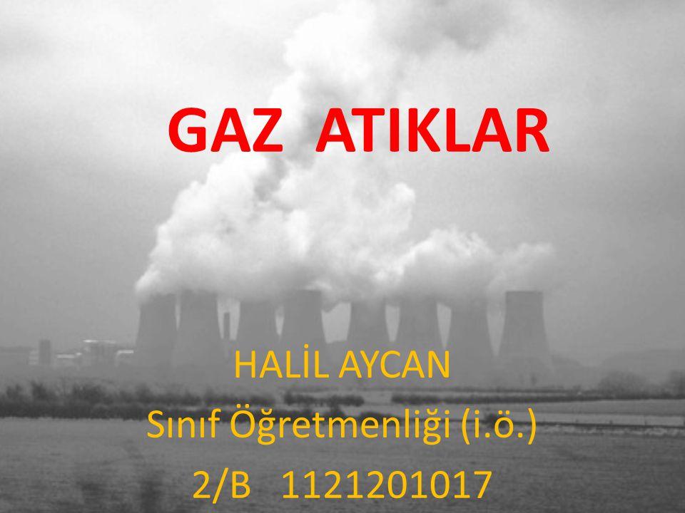 GAZ ATIKLAR HALİL AYCAN Sınıf Öğretmenliği (i.ö.) 2/B 1121201017