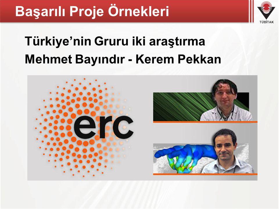TÜBİTAK Başarılı Proje Örnekleri Türkiye'nin Gruru iki araştırma Mehmet Bayındır - Kerem Pekkan