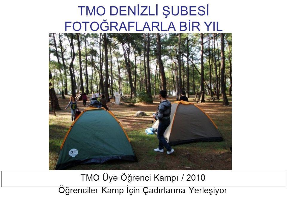 TMO DENİZLİ ŞUBESİ FOTOĞRAFLARLA BİR YIL TMO Üye Öğrenci Kampı / 2010 Öğrenciler Akyaka Sahilinde Çevre Temizliği Yaparken