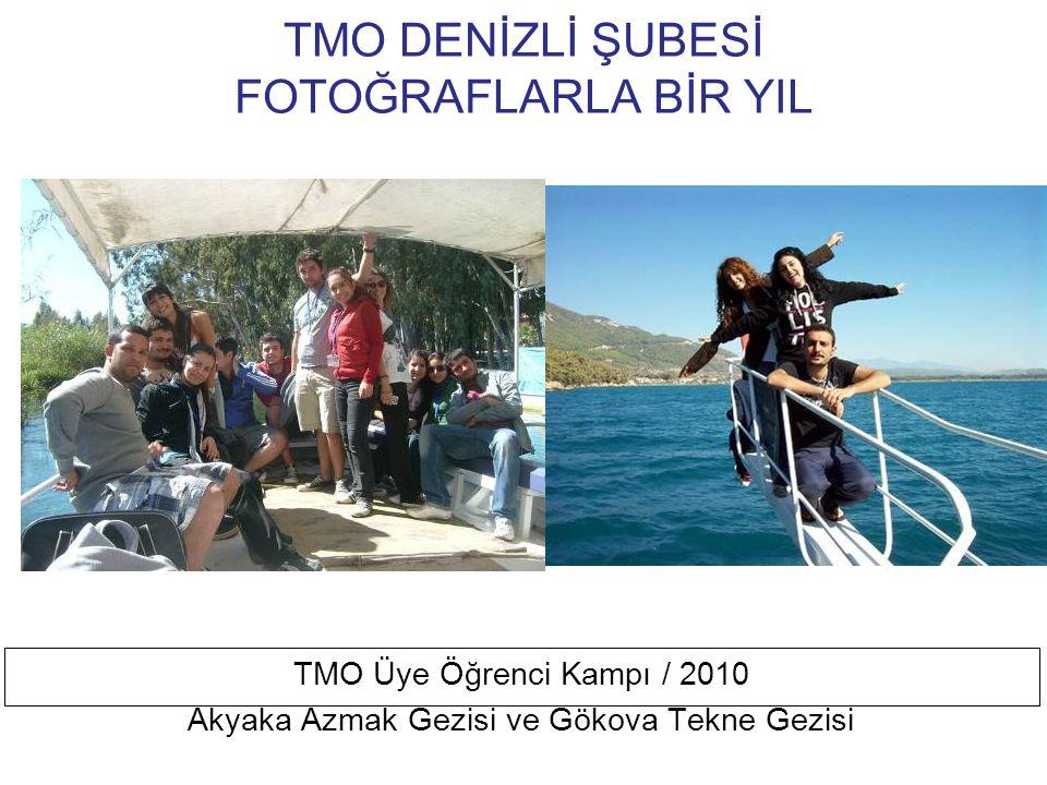 TMO DENİZLİ ŞUBESİ FOTOĞRAFLARLA BİR YIL TMO Üye Öğrenci Kampı / 2010 Öğrenciler Kamp İçin Çadırlarına Yerleşiyor