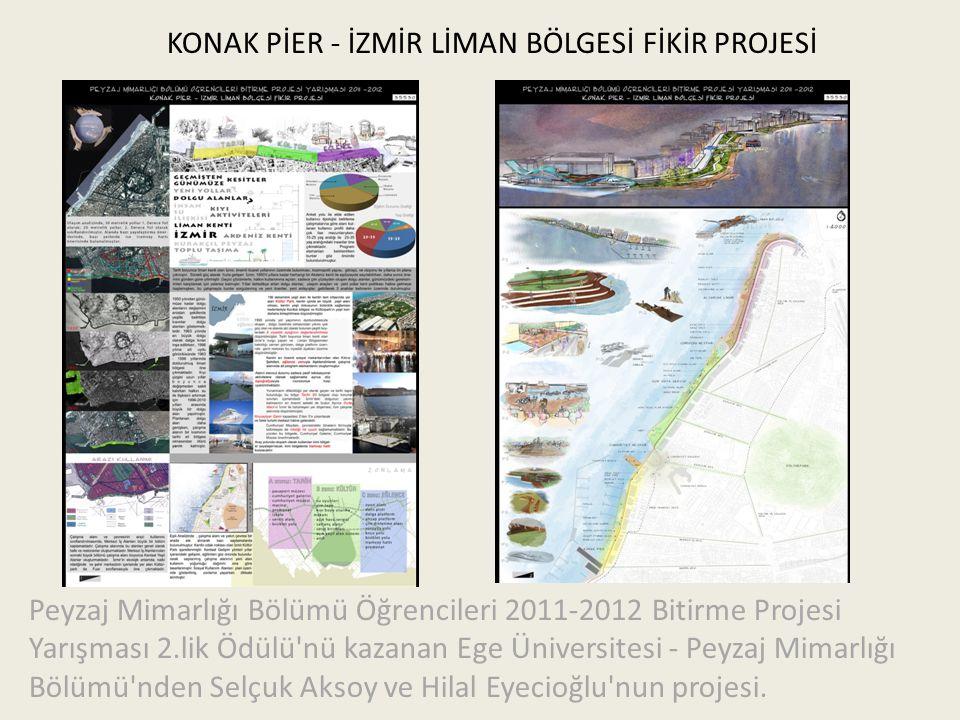 KONAK PİER - İZMİR LİMAN BÖLGESİ FİKİR PROJESİ Peyzaj Mimarlığı Bölümü Öğrencileri 2011-2012 Bitirme Projesi Yarışması 2.lik Ödülü'nü kazanan Ege Üniv