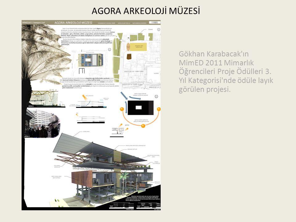 AGORA ARKEOLOJİ MÜZESİ Gökhan Karabacak'ın MimED 2011 Mimarlık Öğrencileri Proje Ödülleri 3. Yıl Kategorisi'nde ödüle layık görülen projesi.