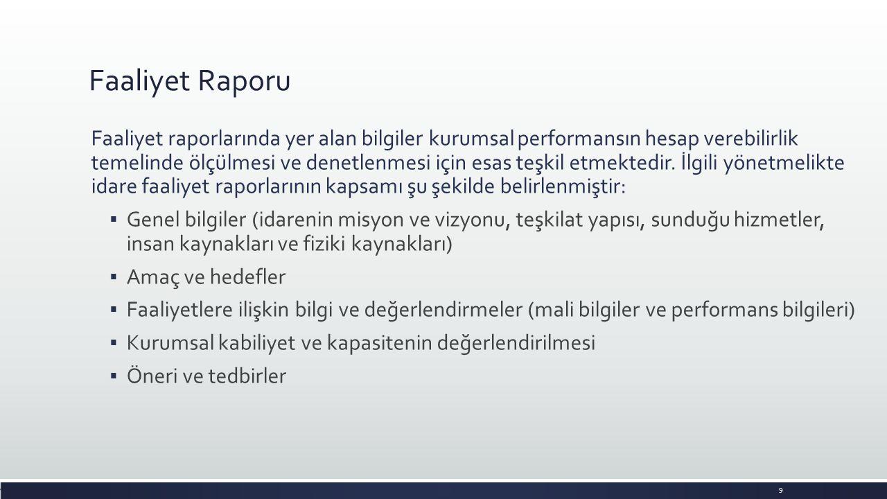 Yayınlanan Ankara Üniversitesi İdare Faaliyet Raporları 10