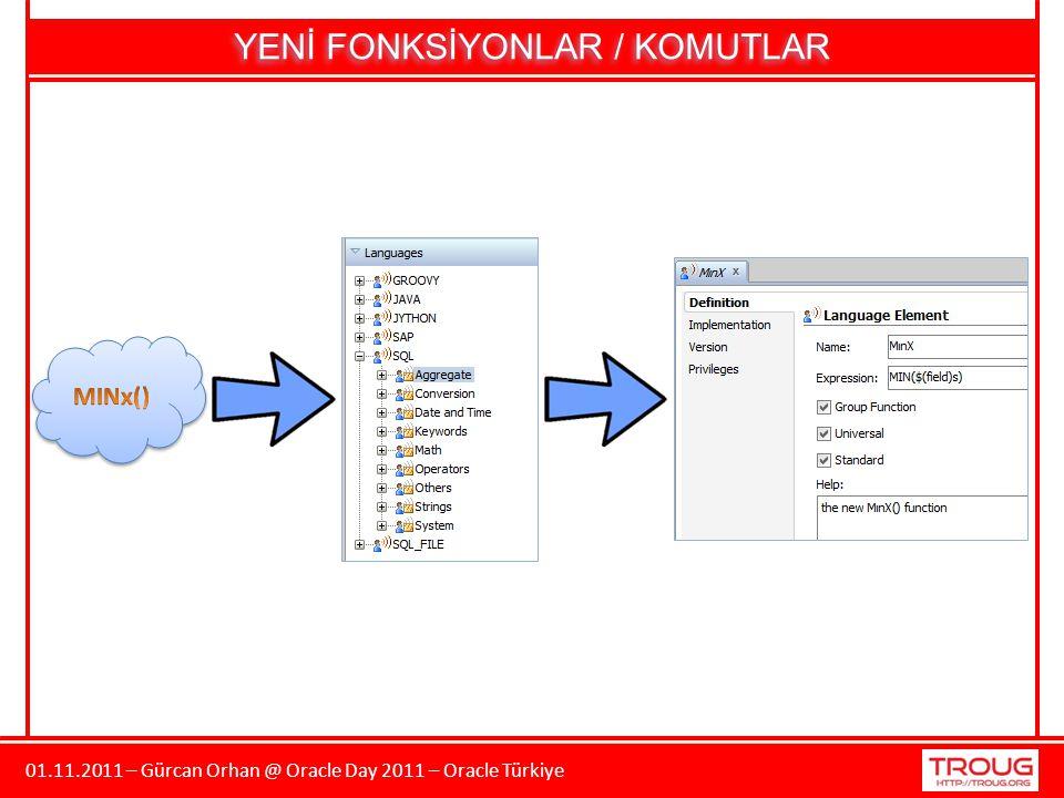 01.11.2011 – Gürcan Orhan @ Oracle Day 2011 – Oracle Türkiye YENİ FONKSİYONLAR / KOMUTLAR
